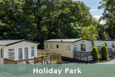 Peaceful Holiday Park with caravans and loges for sale.