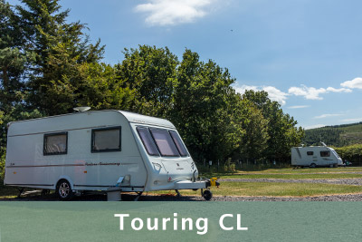 Touring pitches for caravans and motorhomes
